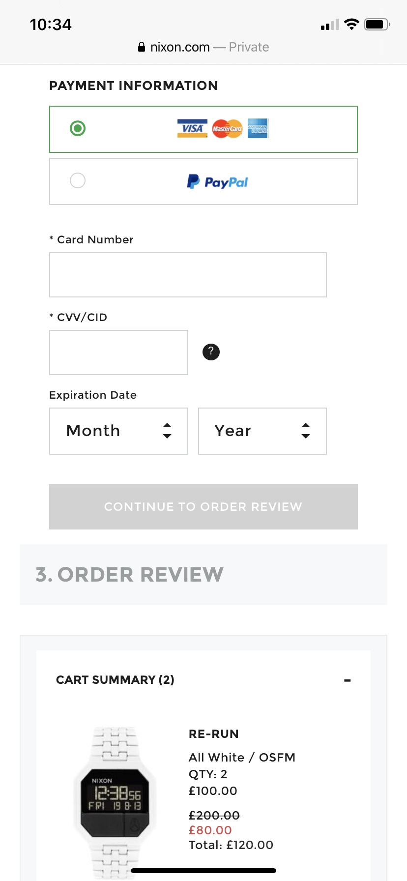 visually appealing mobile form design example