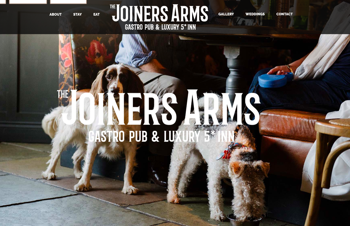 Joiners arms hotel website
