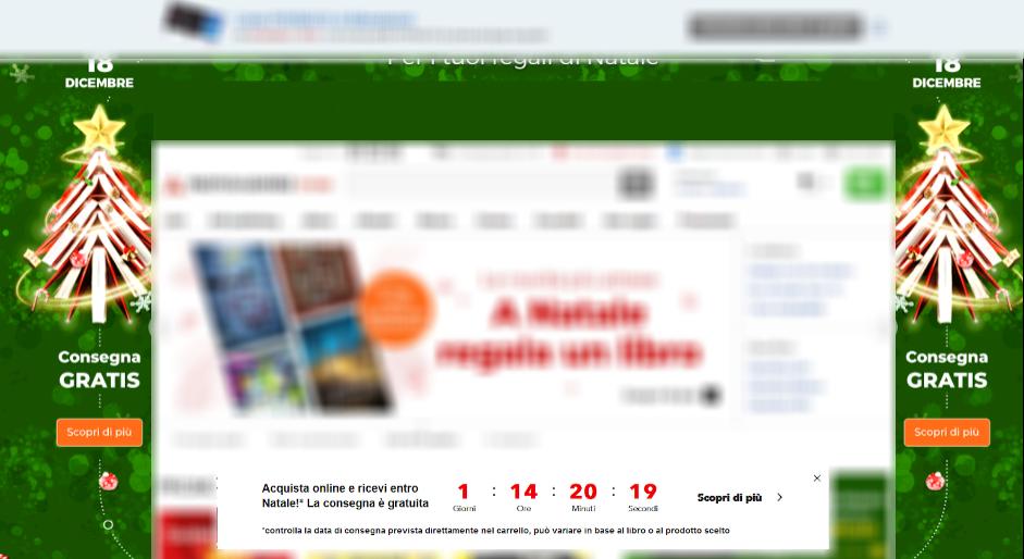 SaleCycle per Mondadori Store: timer per il conto alla rovescia on-site da desktop.