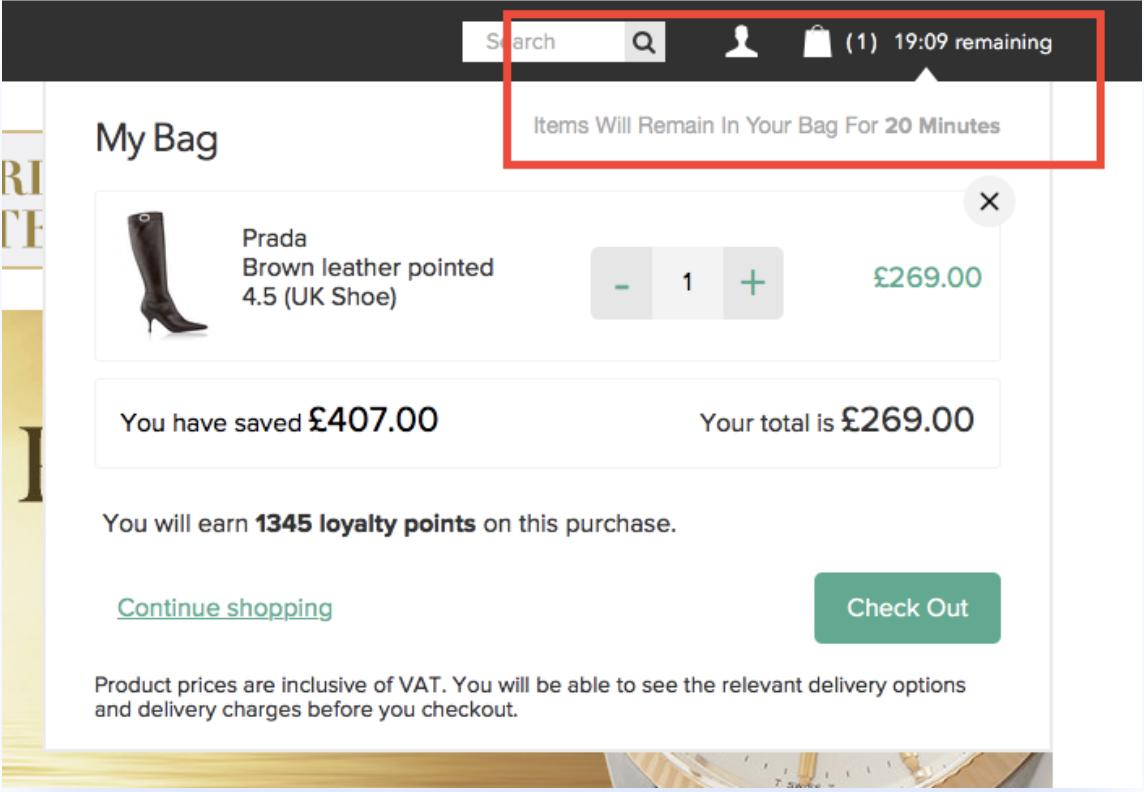 SecretSales: timer per il conto alla rovescia on-site.