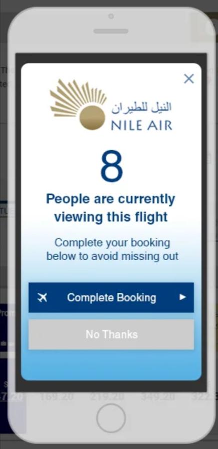 SaleCycle per Nile Air: live trend di prodotto per ridurre il tasso di abbandono del carrello.