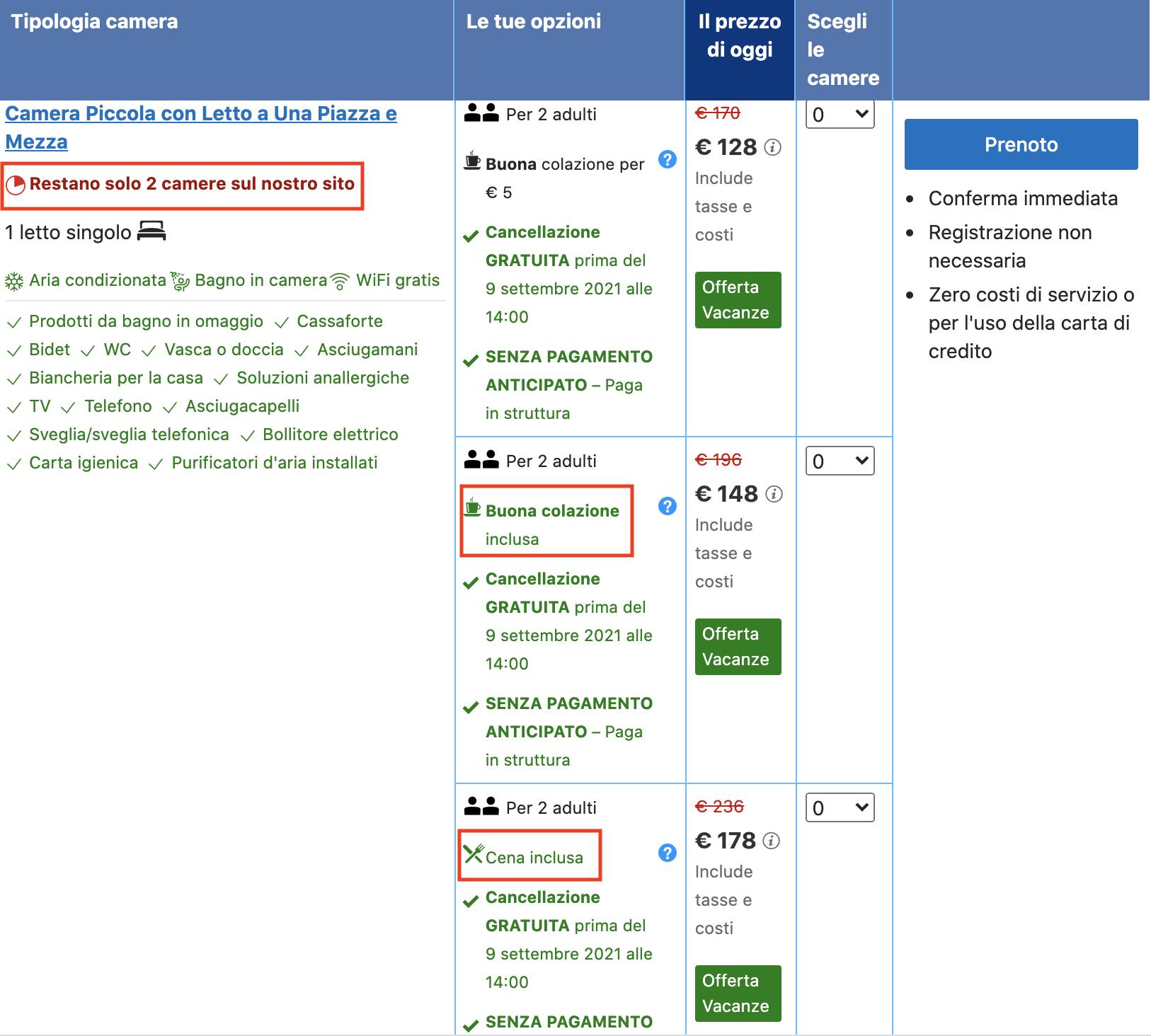 Booking: tecniche di cross-selling e up-selling on-site.