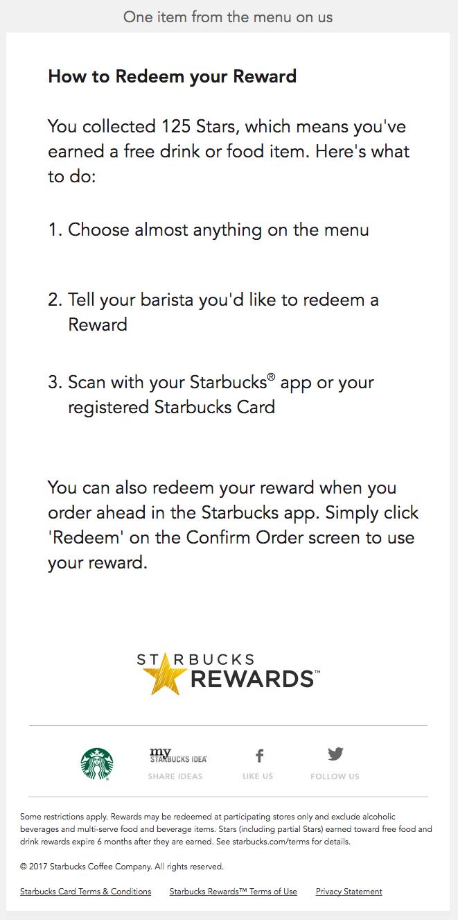 Starbucks: gamification dei codici sconto e programma fedeltà.