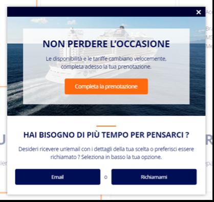 SaleCycle per MSC Cruises: modulo di assistenza telefonica on-site per ridurre il tasso di abbandono del carrello.