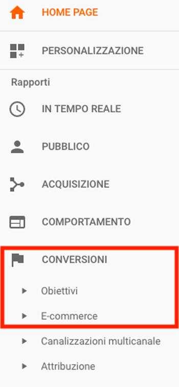 Monitoraggio delle micro conversioni su Google Analytics.