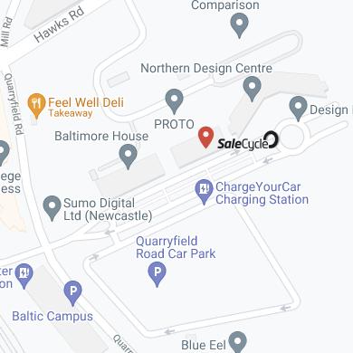 Karte von Gateshead